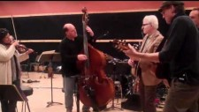 Rehearsal with Steve Martin, James Taylor, Mike Landau and Ernie Collins for Carnegie Hall